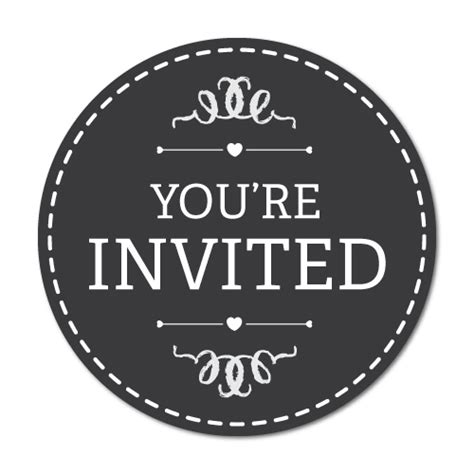 You Re Invited Stickers you re invited classic black label stickers 7082hp ebay