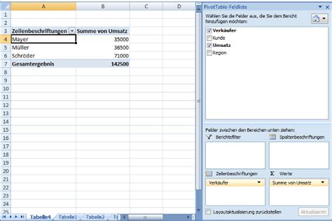 pivot tabelle excel pivot tabelle in excel erstellen
