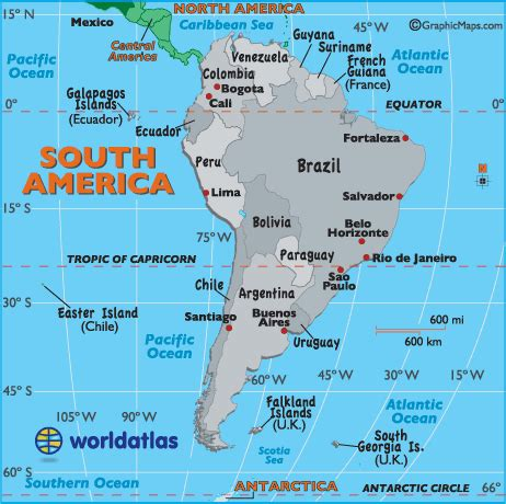 map of america with countries and capitals map of south american countries and their capitals