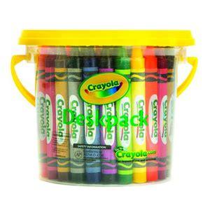crayola large wax crayons deskpack 8 clr cos complete