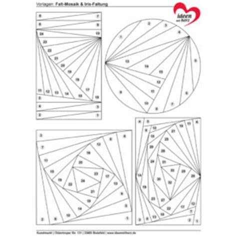 Vorlagen Geometrische Muster Anleitung Falt Mosaik Iris Faltung Ideen Mit Herz