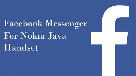 facebook themes java facebook messenger for nokia java handset cellphone gallery