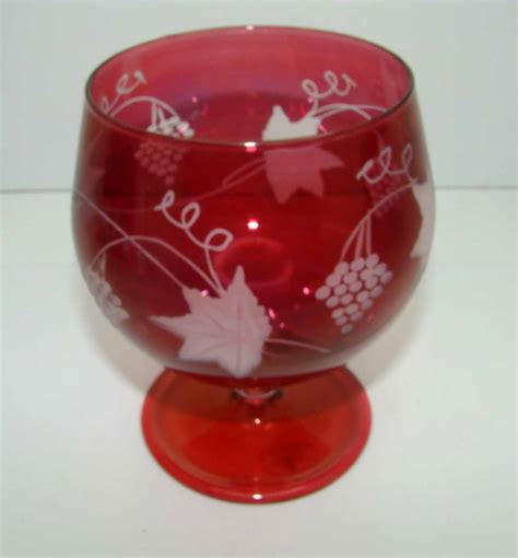 bicchieri cognac bicchiere cognac cristallo royal family color rosso rubino