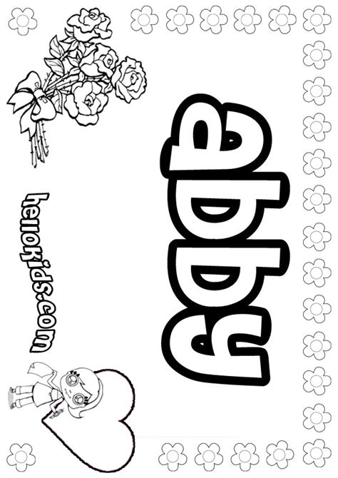 Coloring Pages Of The Name Abby | abby pags free coloring pages