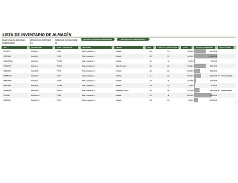 layout almacen excel inventario de almac 233 n office templates