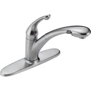 Delta Pull Out Kitchen Faucet Delta 470 Ar Dst Signature Single Handle Pull Out Kitchen