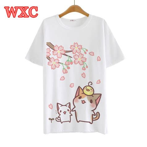 Yakult Kawaii Japanese Harajuku Tshirt summer harajuku t shirt anime neko atsume japanese