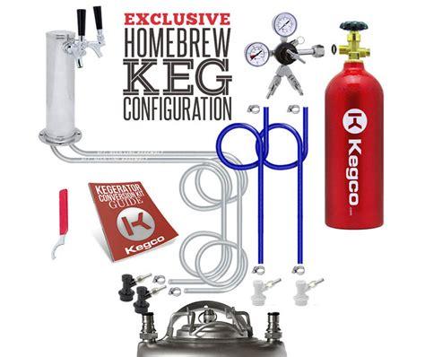 kegco hbks  dual faucet digital home brew beer