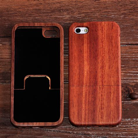 Handmade Iphone 5 - real nature handmade bamboo wood cover for iphone 5