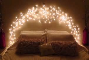 bed with lights in headboard whimsical headboard ideas without the actual headboard