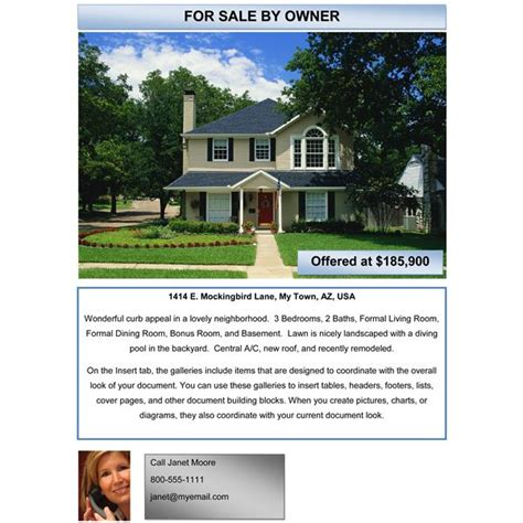 10 Best Images Of Home By Owner Brochure Template For House For Sale Ad Template