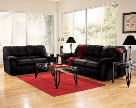 Red And Black Living Room Furniture Living Room Furniture Black