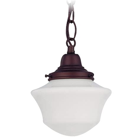 Schoolhouse Lighting Pendant 6 Inch Schoolhouse Mini Pendant Light In Bronze Finish With Chain Fc3 220 Gc6 B 220