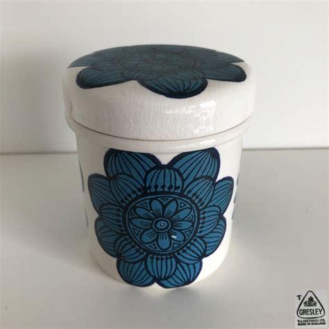 pair  grille storage jars designer colin haxby