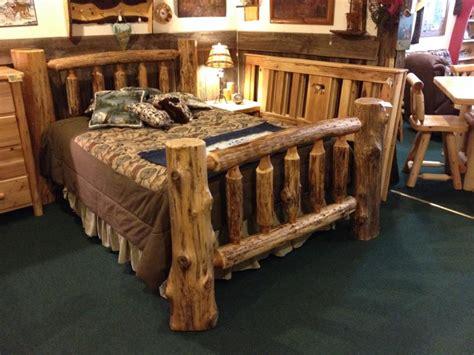 cedar log bed northwoods traditions log beds