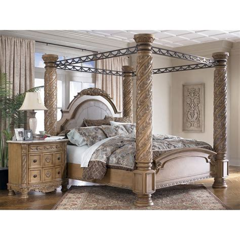 King Size Canopy Bed King Size Canopy Bed King Canopy Bed South Coast California King Panelcanopy Bed Bisque I
