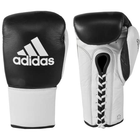 Glove Leather New Black For And Lace Back Knope adidas professional lace up leather boxing gloves ebay