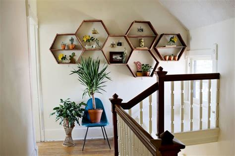diy interior design ideas a diy project that makes you smile the honeycomb shelves freshome