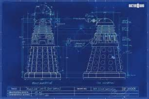 print plans dalek blueprint doctor who poster