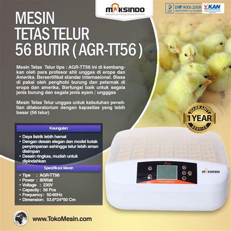 Harga Mesin Tetas Telur Ayam Terbaru jual mesin penetas telur 56 butir agr tt56 di surabaya