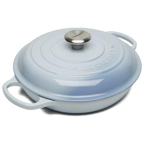 le creuset light blue casserole dish le creuset signature cast iron 26cm shallow casserole dish