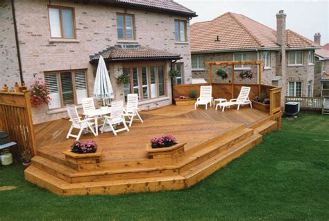 wraparound deck corner wrap around split level deck 4