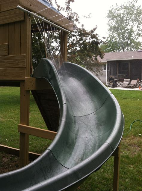 diy backyard slide homemade water slide just add a pool at the end of the