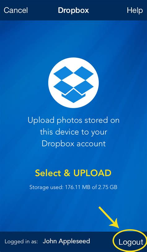 dropbox logout photo transfer app dropbox plugin how to logout from