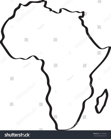 a sketch of africa map freehand sketch africa map on white stock vector 391148356