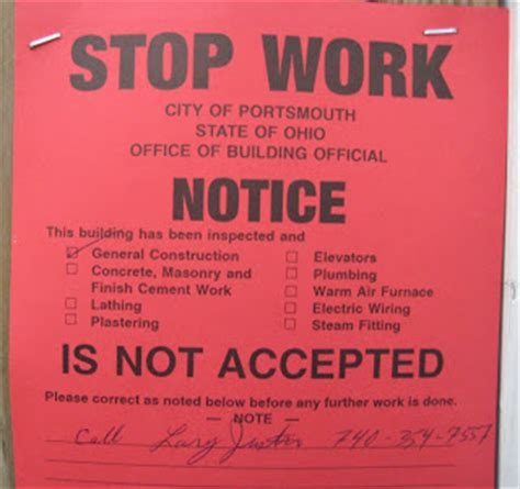 stop work order river vices no justice in portsmouth