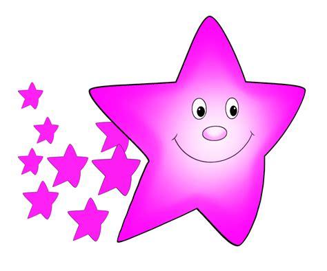 pink star star clipart
