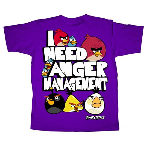 Tshirt Angry Brids 2 angry birds boy s tops anger management cotton sleeve t shirt