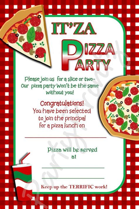 pizza party invitation template free party ideas
