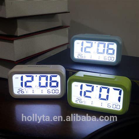 Jam Digital Lcd Mobil Dengan Thermometer Battery Voltage Monitor desain multifungsi dipimpin cahaya digital jam jam dinding digital dengan layar lcd besar dan