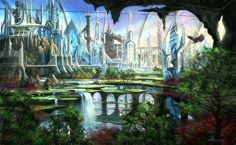 wallpaper abyss fantasy city city computer wallpapers desktop backgrounds 2560x1572