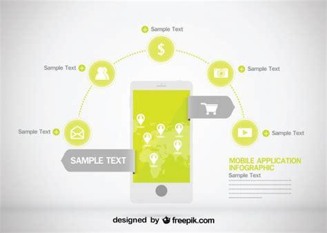 mobile application design vector business infographic mobile application design vector