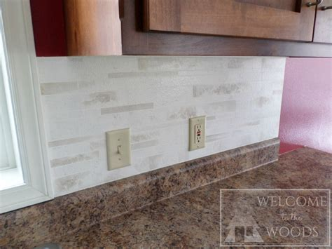 faux tile backsplash faux tile back splash with paint welcome to the woods