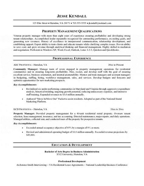 property valuer resume property assistant resume property manager
