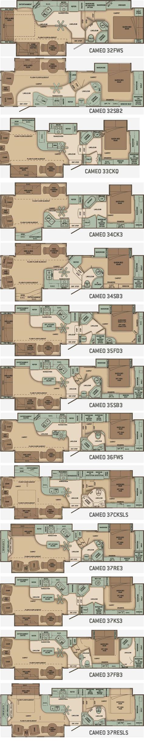 carriage rv floor plans carriage cameo fifth wheel floorplans large picture