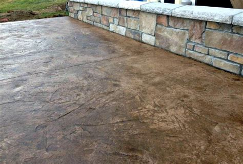 colored concrete patio concrete color options