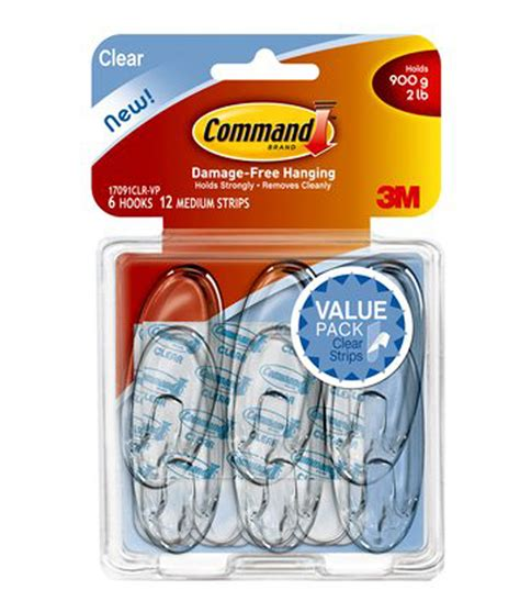 command medium picture hanging strips jo ann command medium clear hook value pack jo ann