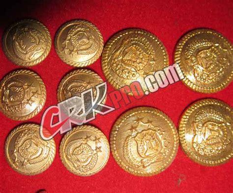 Kancing Pdu Tni Ad Bangkok kancing logam pakaian dinas upacara jas wisuda baju