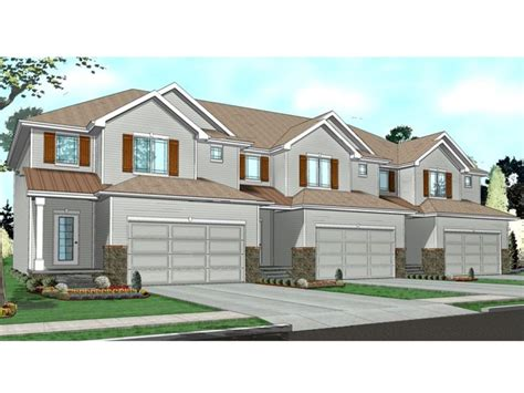 Home Design For Extended Family Townhouse Floor Plans 1 Story Townhouse With Garage Plans