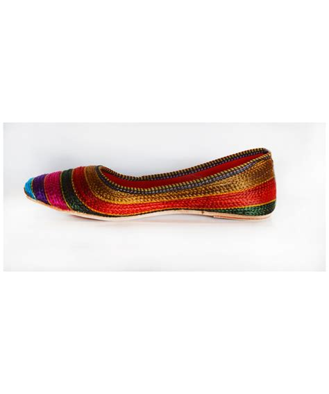 Handmade Artisan - indian artisan handmade womens flats shoes