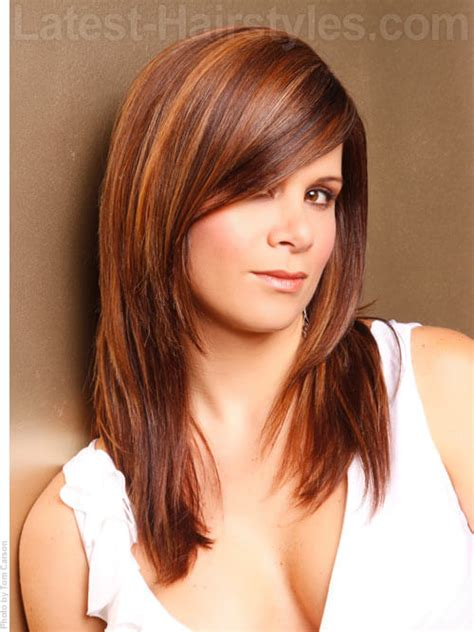 layered hairstyles with side bangs thick hair hairstyles long layered hairstyles for thick hair with bangs