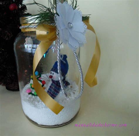 como decorar tarros de cristal para navidad manualidades herme como hacer un tarro decorado para navidad