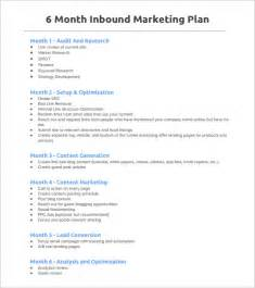 6 month marketing plan template marketing plan outline template 6 free word excel pdf
