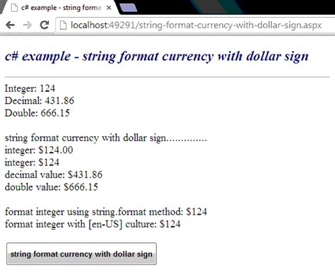 format html currency c how to format a string as currency with dollar sign