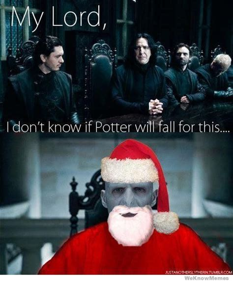 Harry Potter Christmas Meme - harry potter severus snape voldemort santa claus lol