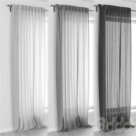 bedroom curtains ikea ikea aina curtains 3d models pinterest window